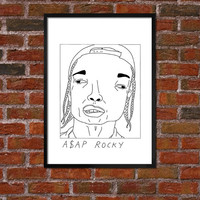 Badly Drawn ASAP Rocky - Hip Hop Poster
