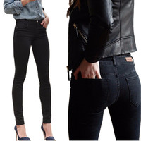 2016 Autumn Spring Women Thin Jeans Stretch Skinny