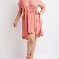 Plus Size Wrap Skater Dress | Charlotte Russe