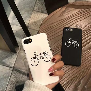 Bike Bicycle Printed Mobile Phone Cases For iPhone 6 6s 7 Plus 8 8 Plus Hard Back Cover Shell For iPhone 5s Se 5