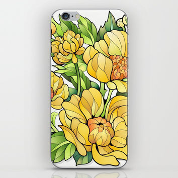 Yellow Flowers iPhone & iPod Skin by MIKART