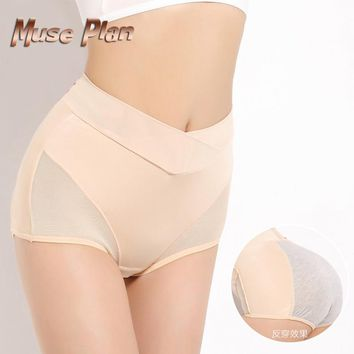 Menstrual leakproof Physiological pants summer style hipster panties Tall waist underwear women lace printing intimates briefs