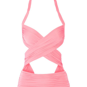 Norma Kamali - XO Bill Mio ruched cutout swimsuit