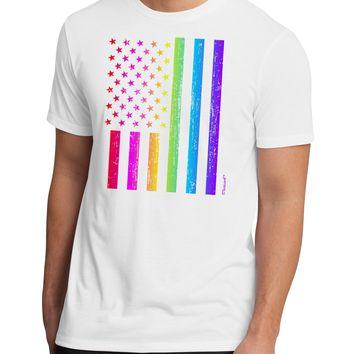 American Pride - Rainbow Flag Men's Sublimate Tee