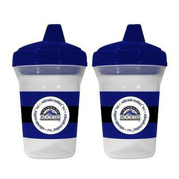 Colorado Rockies MLB 5 oz Plastic Sippy Cups (Set of 2) BPA Free