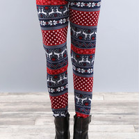 Classic Holiday Fur Lined Leggings