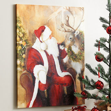 St. Nicholas 2017 Stretched Canvas | Ballard Designs