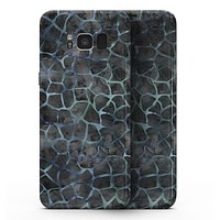 Black and Blue Watercolor Giraffe Pattern - Samsung Galaxy S8 Full-Body Skin Kit