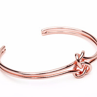 Rose Gold Double Knot Bracelet