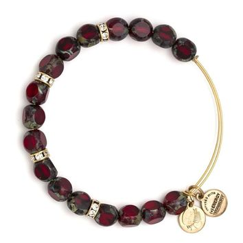 Alex and Ani Crimson Eden Beaded Bangle - Rafaelian Gold Finish