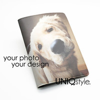 Custom Personalised Passport Holder Case Travel Wallet PU Leather Cover - custom made passport holder - make by your own design or photo