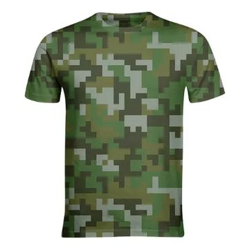 Green Woodland Pixel Army Camo pattern