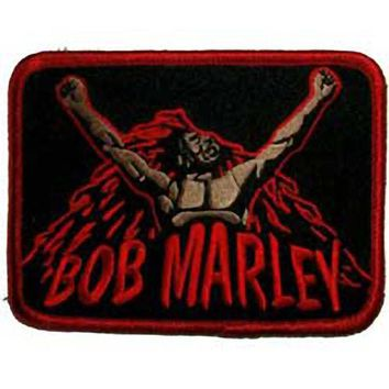 "3"" BOB MARLEY freedom fighter reggae rasta Patches clothing Heavy Metal Music PUNK Rock Band LOGO Embroidered IRON ON Applique"