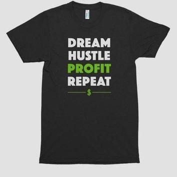 DREAM HUSTLE PROFIT Printed T-shirt