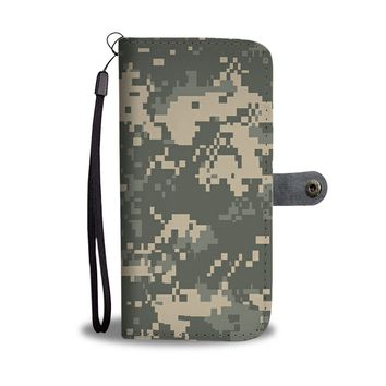 'Military Army Camouflage' (Camo Pattern) Wallet Phone Case