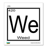 Weed - 420 - We - Periodic Table Sticker