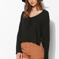 One Teaspoon Jessie Jean Embroidered Peasant Top - Urban Outfitters