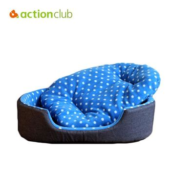Actionclub Dog House Beds Free Shipping Pets Beds Soft House For Dog Care Dog Products Pet Cats Mats Beds Pet Products Washable