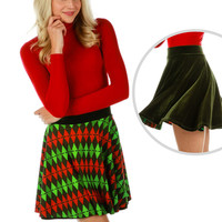 Evergreen Vixen Christmas Skirt