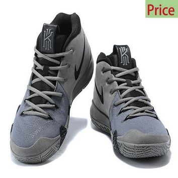 Spring Summer 2018 Legit Cheap 2018 Nike Kyrie 4 Wolf Grey Black sneaker