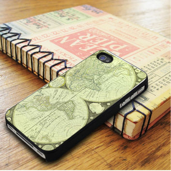 Green World Map iPhone 5 | iPhone 5S Case