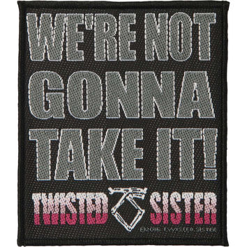 Twisted Sister Men's We're Not Gonna Take It Woven Patch Black