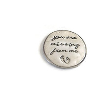 Miscarriage Memorial Baby Footprints Token Hand Stamped By Bliss Stamped Jewelry