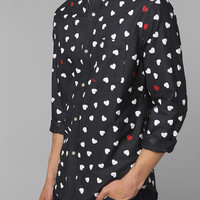Urban Outfitters - Hawkings McGill Hearts Oxford Button-Down Shirt