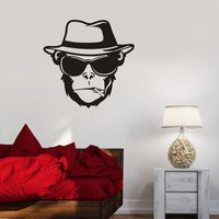 Vinyl Decal Monkey Hat Cigarette Weed Animal Wall Stickers Mural Unique Gift (ig2704)