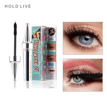 HOLD LIVE 3D Fiber Eyelashes Mascara Makeup Lengthening Curling Eye Lashes Black Waterproof Fiber Mascara Volume Eyelash Make Up