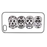 Black and White Skulls Phone Case