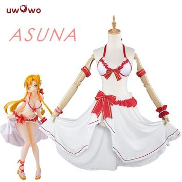 Cool UWOWO Sword Art Online Anime Cosplay Yuuki Asuna Costume Sword Art Online Cosplay Women Yuuki Asuna Swimsuit Costume SAOAT_93_12
