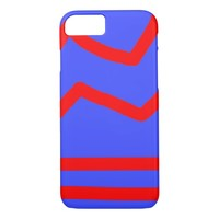 Red and Blue striped iPhone 7 Case