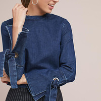 3x1 NYC Tie-Sleeve Blouse