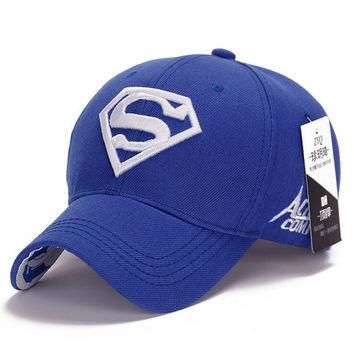 NEW Brand SUPERMAN Polo Snapback Mens Baseball Caps Women Fitted Adjustable Hat Gorras
