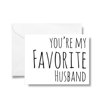 You're My Favorite Husband Card