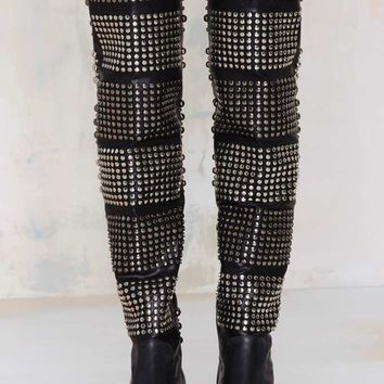 Jeffrey Campbell Valdez Studded Leather Boot