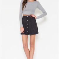 Microsuede Mini Skirt (more colors) - FINALSALE