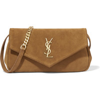 Saint Laurent - Monogramme Envelope small suede shoulder bag
