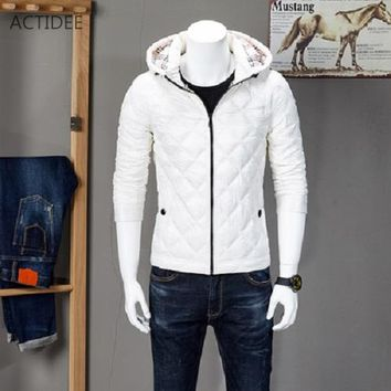 NEW Autumn Winter Men's Duck Down Jacket Men Winter jackets Casual Plaid Down Coat Plus Size XXXL High Quality Drop Ship