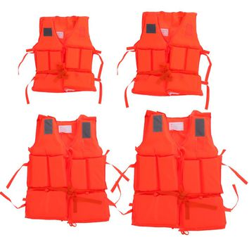 Kid To Adult Size Life Vest With Survival Whistle Water Sports Swimming Foam Life Jacket For Drifting Boating Ski Vest