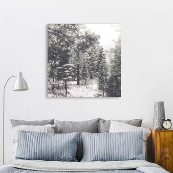 Modern Farmhouse, Hygge Wall Art, Nature Photography Print, Forest Wall Art, Neutral Wall Decor, Rustic Home Decor, Woodland Decor, Snow