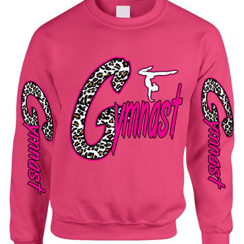 Gymnast  White Leopard women's sweatshirt