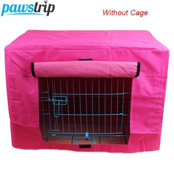Kennel Cover-Durable Pet Dog Cage Cover Waterproof Oxford Puppy Crate Cover Without Cage S/M