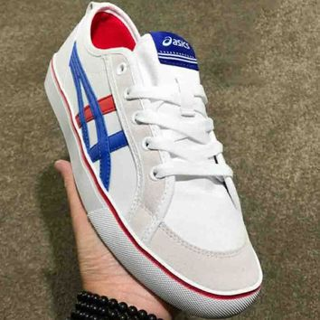 ASICS classic retro couple fashion elegant casual shoes F-CSXY white+blue