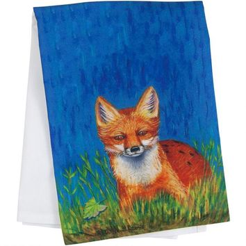 ONETOW Red Fox Guest Towel