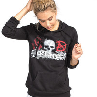 Metal Mulisha Sons Of Anarchy Samcro Womens Hoodie Black  In Sizes