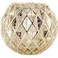 Mercury Glass Roly Poly with Geometric Design | Shop Hobby Lobby