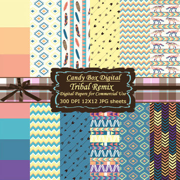 Tribal Paper, tribal digital, Indian paper, Indian digital paper, native Digital Scrapbook Paper, Digital Scrapbooking - Commercial Use OK