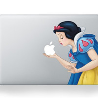For apple mac stickers snow white Decals Stickers Decals for MacBook air pro 13 inch Decal Sticker Skin for Apple